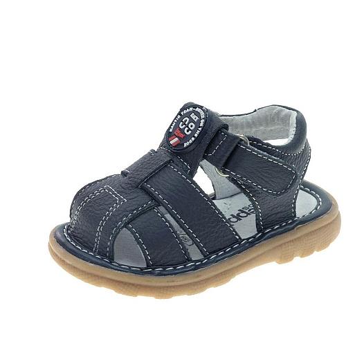 Azul Marino 19 Sandalia Piel Bebé Casual Talla RAL354jq