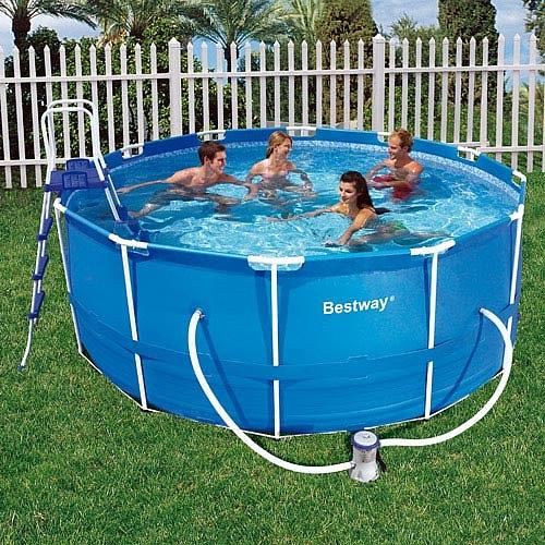 Sizzlin cool piscina con depuradora 244x66cm for Depuradora para piscina hinchable