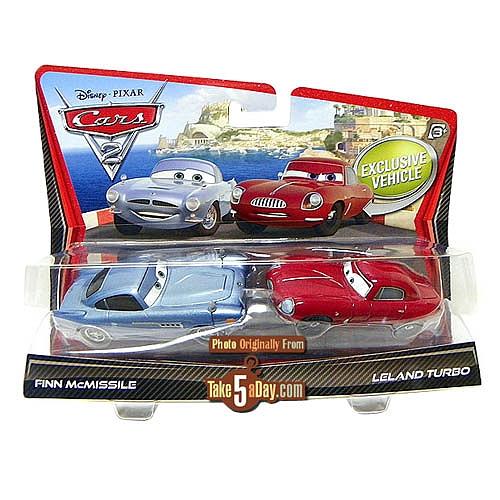Y 2 Coches Cars Mcmissile Turbo Pack Finn Leland yf76Ybg